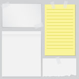 Set of four notes papers Royalty Free Stock Photos