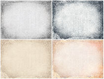Grunge textures set Royalty Free Stock Photos