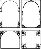 Set Of Four One Color Baroque Frames Royalty Free Stock Photography
