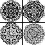 Set of four ornamental pattern. Stock Photo