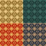 Set of four ornamental seamless pattern. Stock Photo
