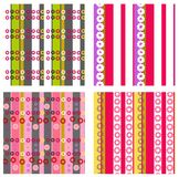 Set of four ornaments with stripes Stock Photography