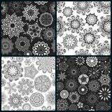Set of four ornate floral seamless texture Stock Photo