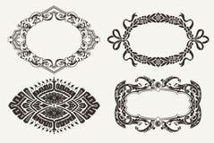 Set Of Four Ornate Frames vector illustration