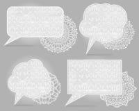 Four vintage speech bubbles Stock Photo