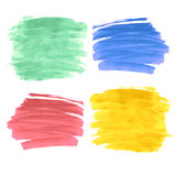 Set of four paint strokes Stock Photography