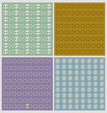 Set of four pattern backgrouns Stock Image