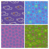 Set of four patterns Royalty Free Stock Photo
