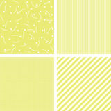 Set of four patterns. Stock Images