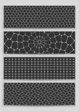 A set of four patterns-honeycomb Royalty Free Stock Images