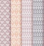 Set of four patterns. Stock Photos