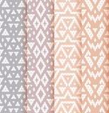 Set of four patterns. Stock Photo