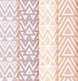 Set of four patterns. Royalty Free Stock Photos