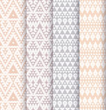 Set of four patterns. Royalty Free Stock Photography