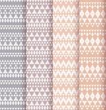 Set of four patterns. Royalty Free Stock Image