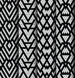 Set of four patterns. Royalty Free Stock Photos