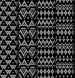 Set of four patterns. Royalty Free Stock Image