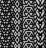 Set of four patterns. Stock Image