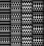 Set of four patterns. Stock Photography