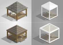 Set of four pavilions Royalty Free Stock Image