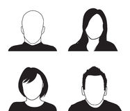 Set of four people silhouettes Royalty Free Stock Image