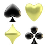 Set of four playing card suit signs Stock Photo
