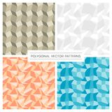 Set of four polygonal pattern backgrounds Royalty Free Stock Image