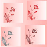 Set from four poppies. Royalty Free Stock Photography