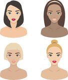Girls - set of vector icons royalty free illustration