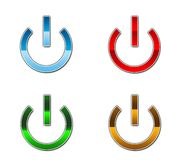 A set of four power buttons Stock Image