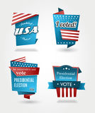 Set of four presidential election badges. Royalty Free Stock Photography