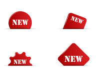 Set four red elements new Royalty Free Stock Images
