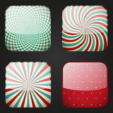 Set of retro apps icons Royalty Free Stock Images