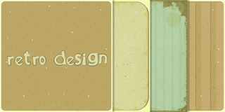 Set of four retro backgrounds Royalty Free Stock Photography