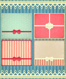 Set of four retro Holiday backgrounds Stock Photos