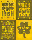 St. Patrick's Day Cards Set Stock Image