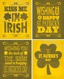St. Patrick's Day Cards Set Stock Image