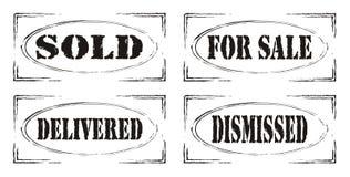 Set of four retro stamps - part 2. Set of four retro stamps on white background Royalty Free Stock Photo