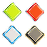 Set of four rhombus buttons isolated Stock Photo