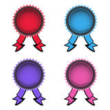 Set of four rosettes Stock Image