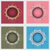 Set of four round frames Stock Photography