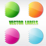 Set of four  round labels Royalty Free Stock Photography