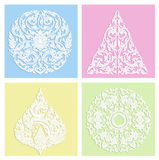 Set of four seamless abstract hand-drawn pattern Stock Images