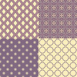 Set of four seamless abstract patterns Royalty Free Stock Photo