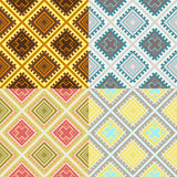 Set of four seamless african textures Stock Photo