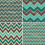Seamless Chevron Patterns Collection Stock Images