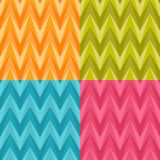 Set of Four Seamless Color Abstract Retro Vector Royalty Free Stock Photo
