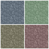 Set of four seamless easter patterns Stock Image