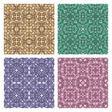 Set of four seamless eastern carpet patterns Stock Photo