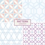 Set of four seamless fashion colorful patterns. Royalty Free Stock Photography